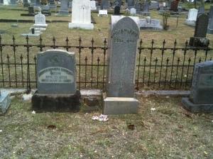 Headstones at Makiki Cemetery of Ellen & Goo Kim Fui